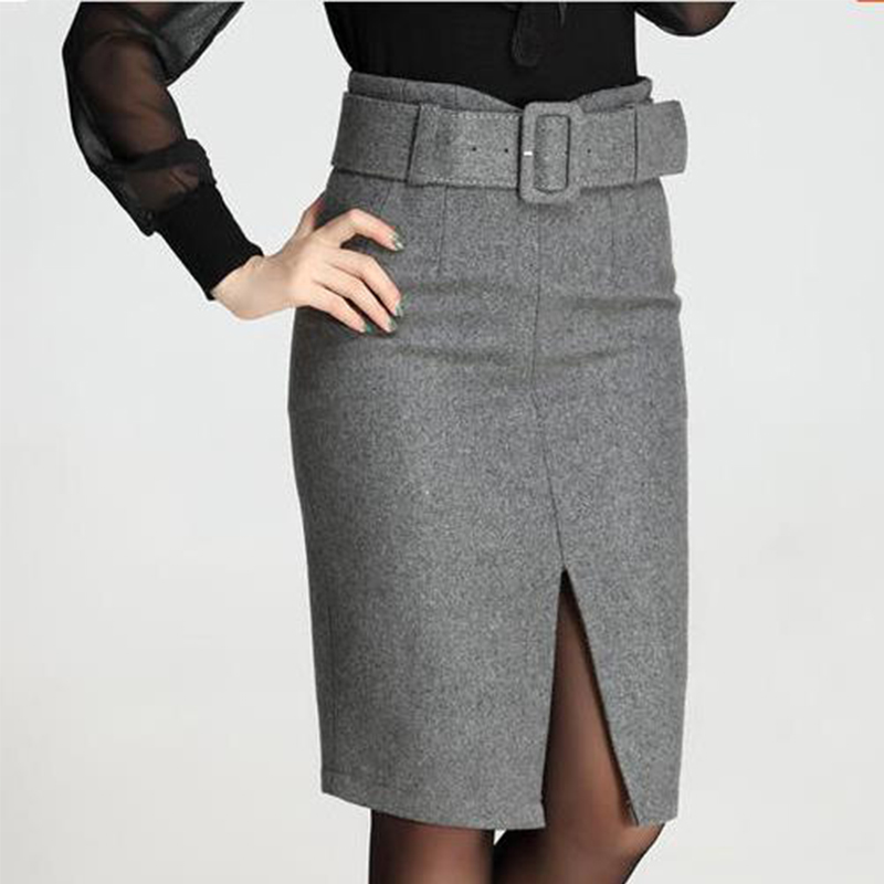 Popular Knee Length Pencil Skirt High Waisted-Buy Cheap Knee ...