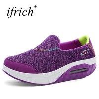 חדש Trendl אימון לנשים גבירותיי פלטפורמה נוח נעלי האוויר Sole Sneaker אתלטי נשים סגולות שחורות ספורט הנעלה