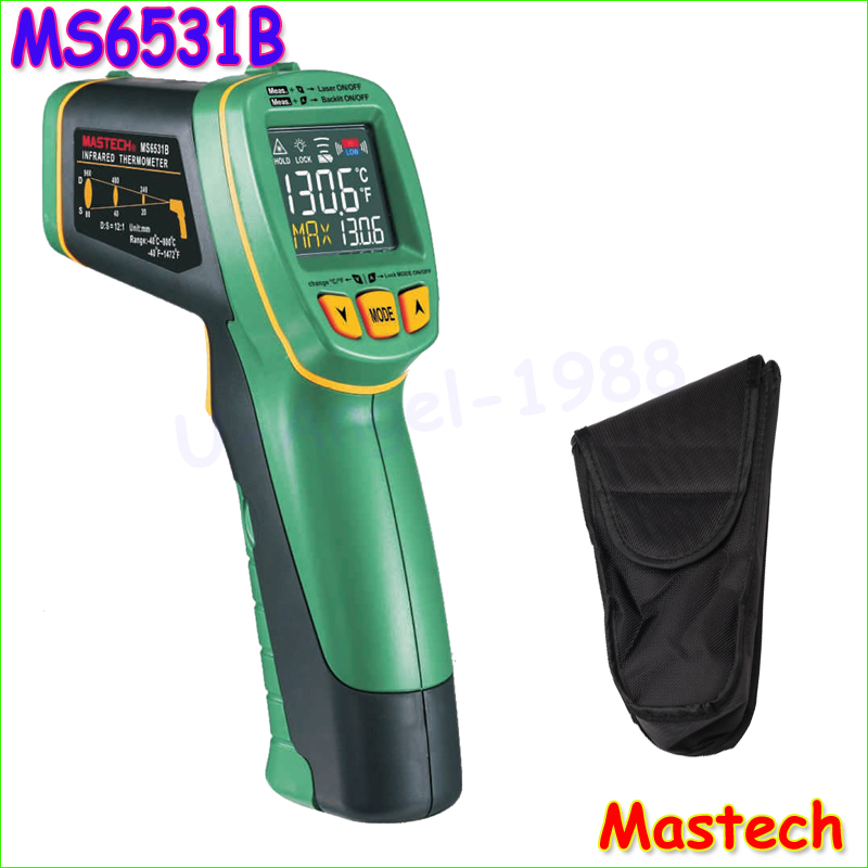 ФОТО 1pcs MASTECH MS6531B Handheld Non-contact Infrared Thermometer Point Temperature Gun with K-type  Temperature Measurement