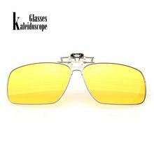e31ba10bbe775 Caleidoscópio Óculos Polarizados Clipe de Óculos De Sol Dos Homens Das  Mulheres Flip sobre Óculos de Miopia Armação de Metal ócu.