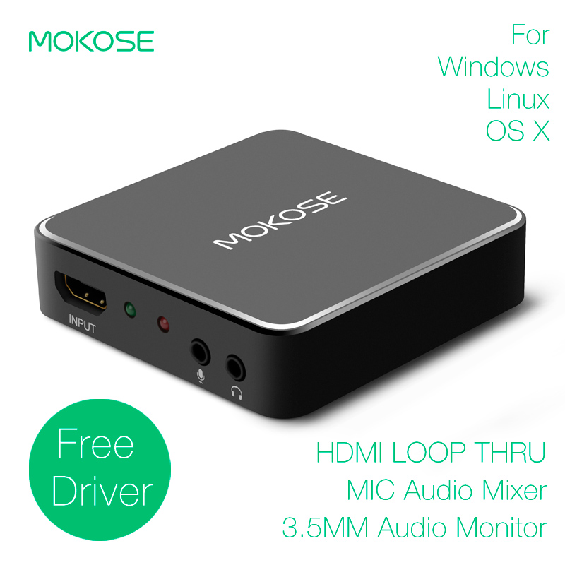 MOKOSE HDMI Game Video Capture USB3 0 Dongle 1080P 60FPS