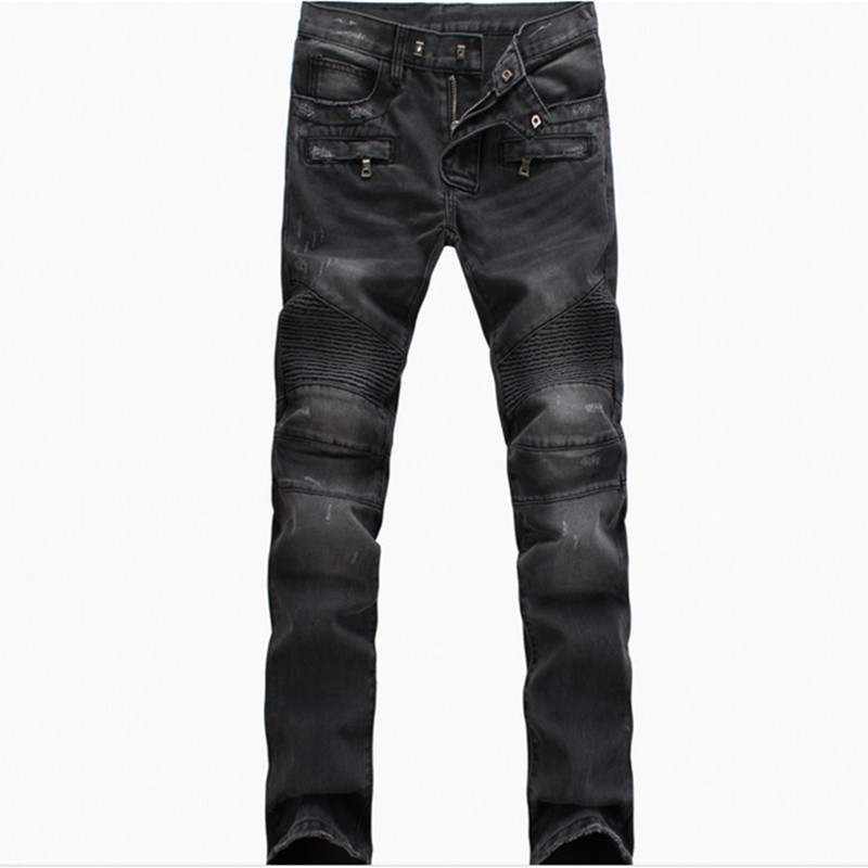 New Fashion jeans Pleated Ruched Draped Men Biker Jeans Motorcycle Scratched Joggers Pants Denim Trousers Plus Size 40 dr 30 din rail power supply 30w 24v 1 5a switching power supply ac 110v 220v transformer to dc 24v watt power supply