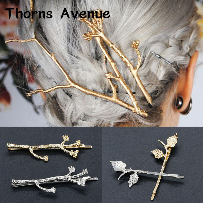 Thorns Avenue Fashion 1PCS/Lot 2 Colors Scissors Shape Hair Barrettes Side clip Horsetail clip Women Jewelry For Women Party
