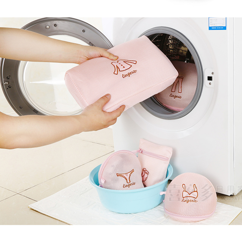 5pcs Washing Laundry Bag Clothing Care Foldable Protection Net Filter Underwear Bra Socks Underwear Washing Machine Clothes