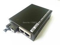 2pcs 1 Pair 10/100M 2 RJ45 1 SC 100M Singlemode Single Fiber Optical Media Converter 25KM