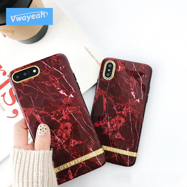 ce9a0db7d Online Shop Ins hot Shinny Wine Red Marble Glossy Stone Pattern With  Glitter Shinning Gold Line TPU Case For iPhone x 10 6s 7 8 plus |  Aliexpress Mobile