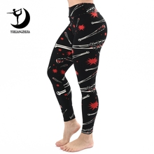 742d41aef3de8 2019 fashion Brand Women fitness leggings sports baseball Printing push up  legins High Waist Slim Legging