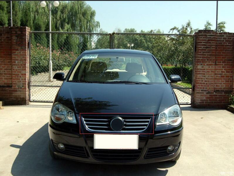 Calandre autour de la garniture grilles avant autour de la garniture grilles de course garniture pour vw Volkswagen POLO 2006-2010 ABS 1 pcCalandre autour de la garniture grilles avant autour de la garniture grilles de course garniture pour vw Volkswagen POLO 2006-2010 ABS 1 pc