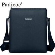 Padieoe 2016 Mejor calidad de los hombres bolsas de mensajero del hombro crossbody de cuero genuino bolsas de cuero bolsos para hombres de negocios de Ocio