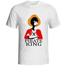 One Piece T Shirt Brand Men T-shirt Funny Luffy T Shirts Zoro And Nami White O-neck Printed Tshirt Clothing Mens Anime Tee Shirt цена и фото