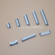 10pcs FFC / FPC connector 1.0mm 4 Pin 6 8 9 10 12 14 16 18 20 22 24 26 30P Bottom Contact Right angle SMD / SMT ZIF laptop usb board ffc fpc flex wire for asus x550ze ffc fpc flexible cable length 20cm 8 pin