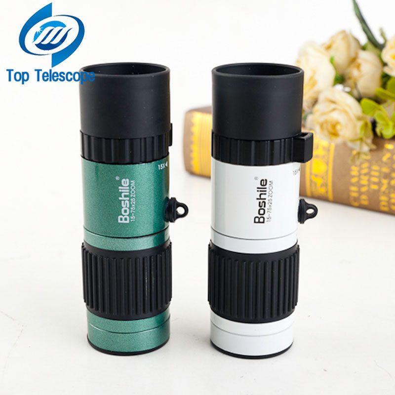 Monocular Boshile 15-75x25 zoom telescope binoculars high quality night vision Pocket travel hunting football with free tripod 1