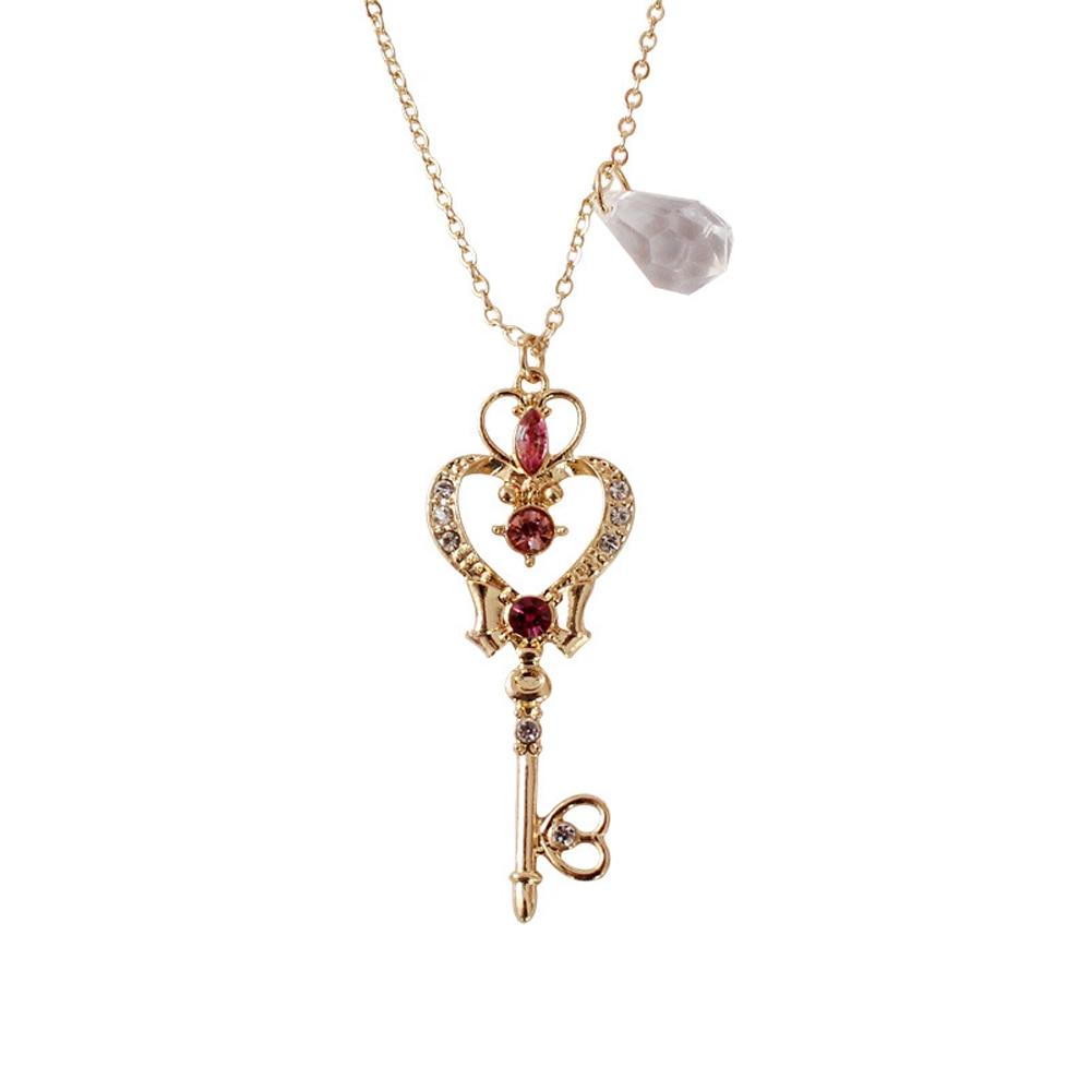 Tsukino Usagi Loving Wand Crystal cosplay Pendant Necklace Girl accessories