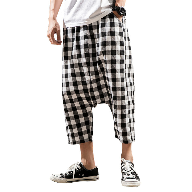 2018 Summer Lattice Man Leisure Time Shorts Male Easy Korean Trend Will Code Seven Part hip hop Collocation fashion New Arrivals