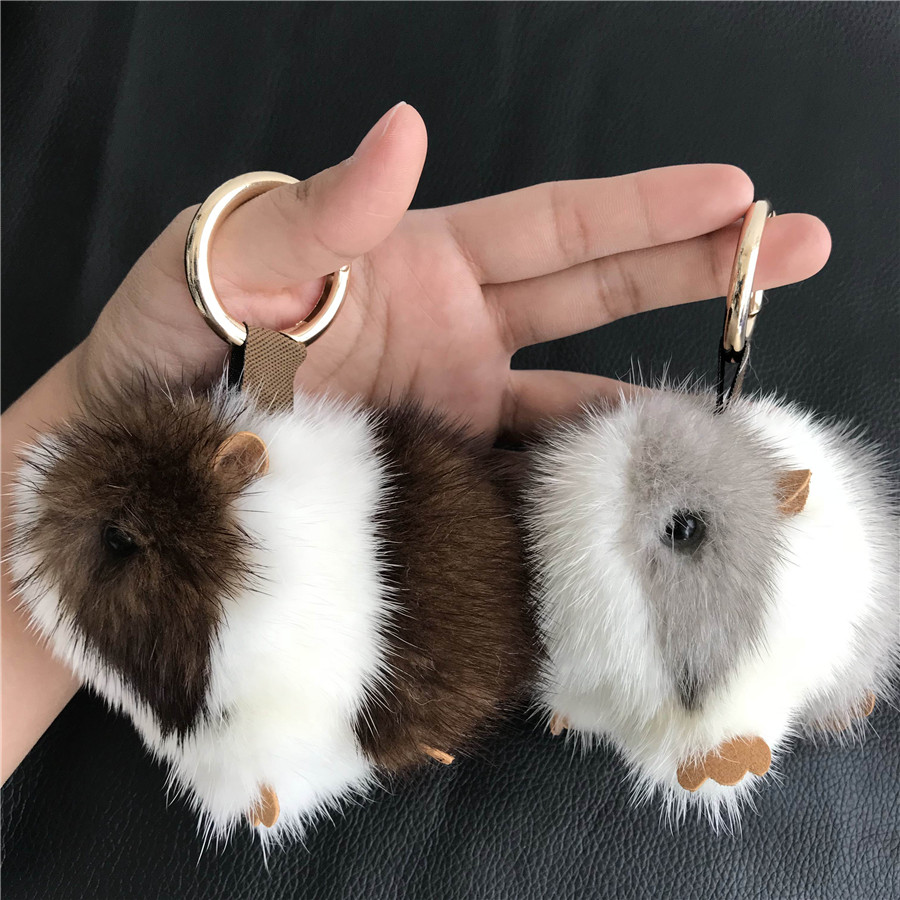 Magicfur Real Mink Fur Cute Cobaya Guinea Pig Mouse