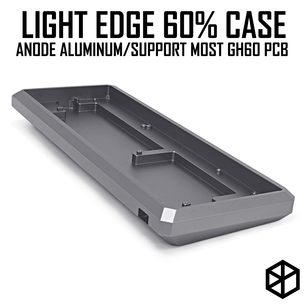 Light Edge 60% Anodized Aluminium Case Or Acrylic Case For Mechanical Keyboard Purple Grey Frosted Acrylic For Gh60 Xd64 Gk61