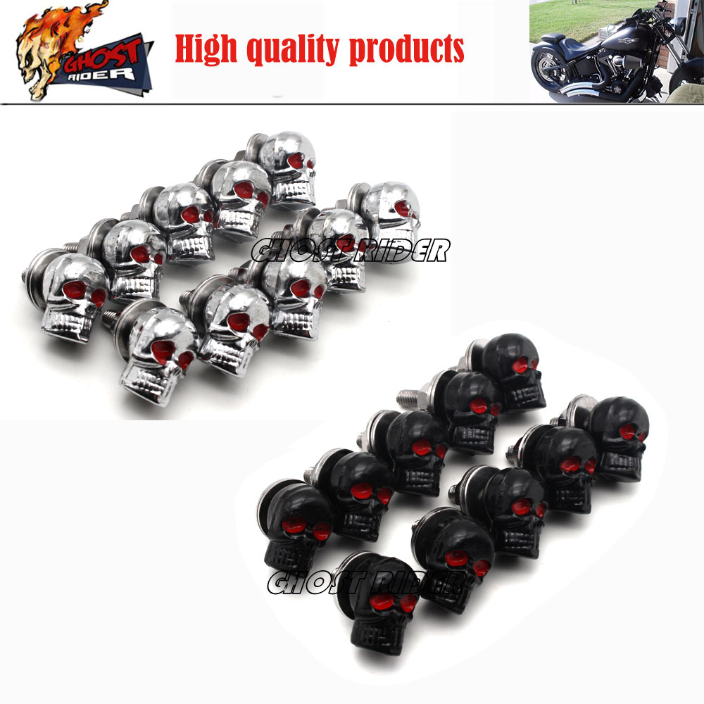 10 tribal skull bolts for license plate frame screwwindshield motorcycle customchina