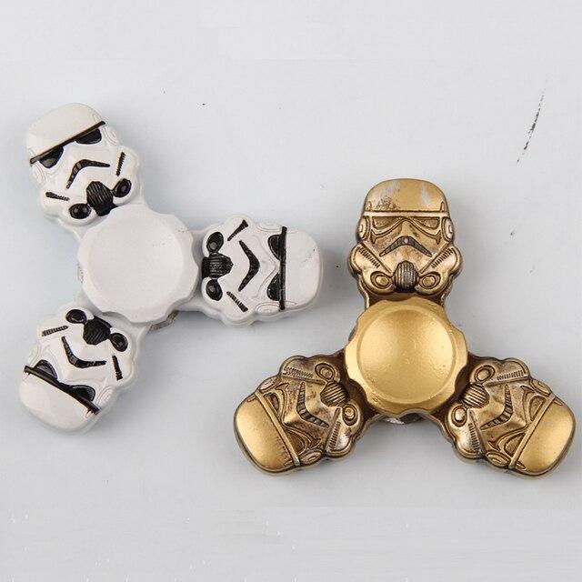 Хорошее Качество Индивидуальные Версия Новый Непоседа Игрушки Звездные войны Штурмовик Шлем Ручной Металла Три-Счетчик Палец Образовательные Игрушки
