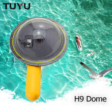 TUYU Waterproof Dome Port Cover for GoPro Hero 5 6 4 sesi EKEN h9 h6s h5s sj4000 kubah untuk xiaomi yi 4k Camera waterproof Dome