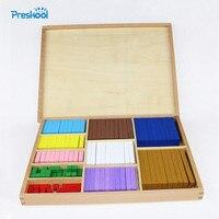 20 видов 1-10 см блоки цифровая палка деревянные игрушки детские развивающие игрушки обучающая Математика монтессори игрушка