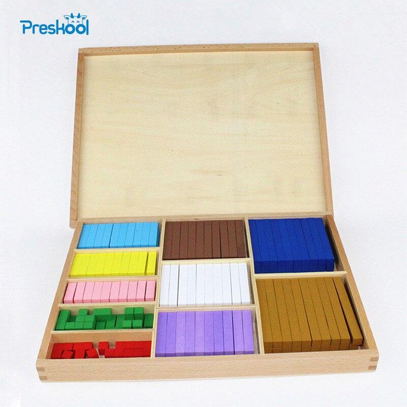 20 sortes 1-10 cm blocs bâton numérique en bois jouets enfant jouets éducatifs enseignement Montessori jouet de mathématiques