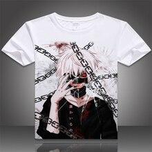 Tokio Ghoul camiseta New Japan Anime Ken Kaneki Cosplay respirable cómodo fibra de la leche de la camiseta para hombres mujeres remata camisetas