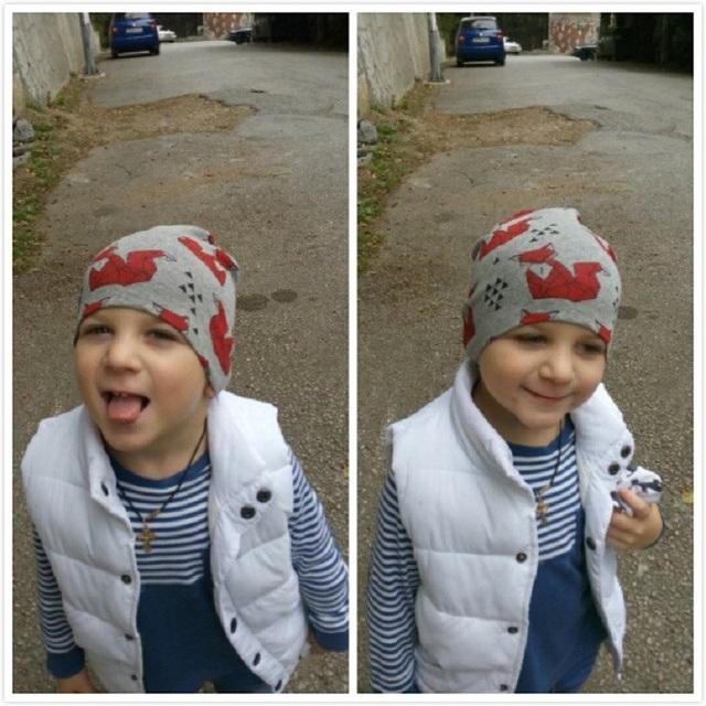 Marka Baby Hat dzianiny bawełna kreskówka niedźwiedź Batman Drukuj czapki dla chłopców dziewcząt wiosna jesień zima dzieci czapki Baby Beanie