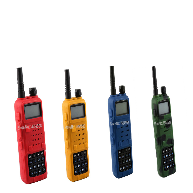 5 Color Handheld Soft Rubber Case Portable Silicone Cover Shell For Baofeng UV-5R Series Two Way Radios Walkie Talkie Freeship