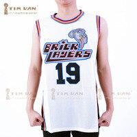 TIM VAN STEENBERGE Aaliyah 19 Pedreiros Basketball Jersey Sexto Anual Rock N' Jock B-Jam Bola 1996-White