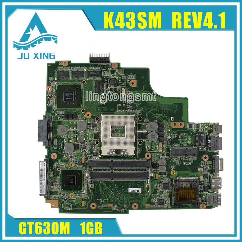 K43SJ K43SV A43S X43S For Asus Laptop motherboard HM65 N12P-GS-A1 REV3.0 GT630M 1GB 8 Memory DDR3 VRAM Main board fully tested brand new pbl80 la 7441p rev 2 0 mainboard for asus k93sv x93sv x93s laptop motherboard with nvidia gt540m n12p gs a1 video card