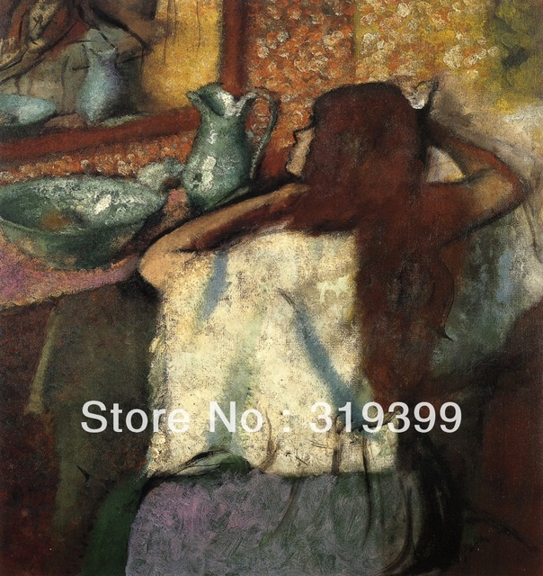 6db994114083e US $62.69 15% OFF 100% handmade Oil Painting Reproduction on Linen  Canvas,woman at her toilette 2 by edgar degas,Free DHL Shipping,oil  paintings-in ...