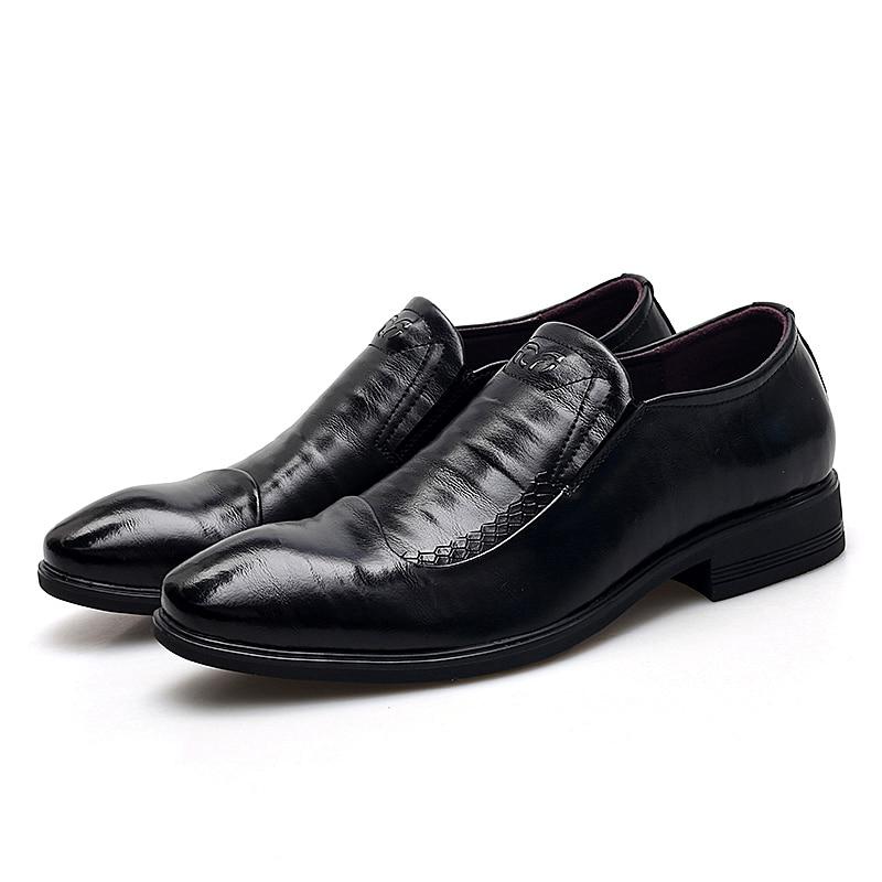 Formal Oxfords 2019 Sapatos Senhores De Hombre Reunião Negócios Ectic Apontou Couro Zapatos Clássico Homens Do Escritório Preto Toe fxwPqY