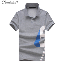 Men Summer Polo Shirt 2019 Brand New Cotton Short Sleeve Business Casual Geometric Print Polos Shirts Male Breathable Slim Tees