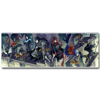 Batman Car Woman Superhero Comic Art Silk Fabric Poster Print 13x36inch Anime Picture For Living Room