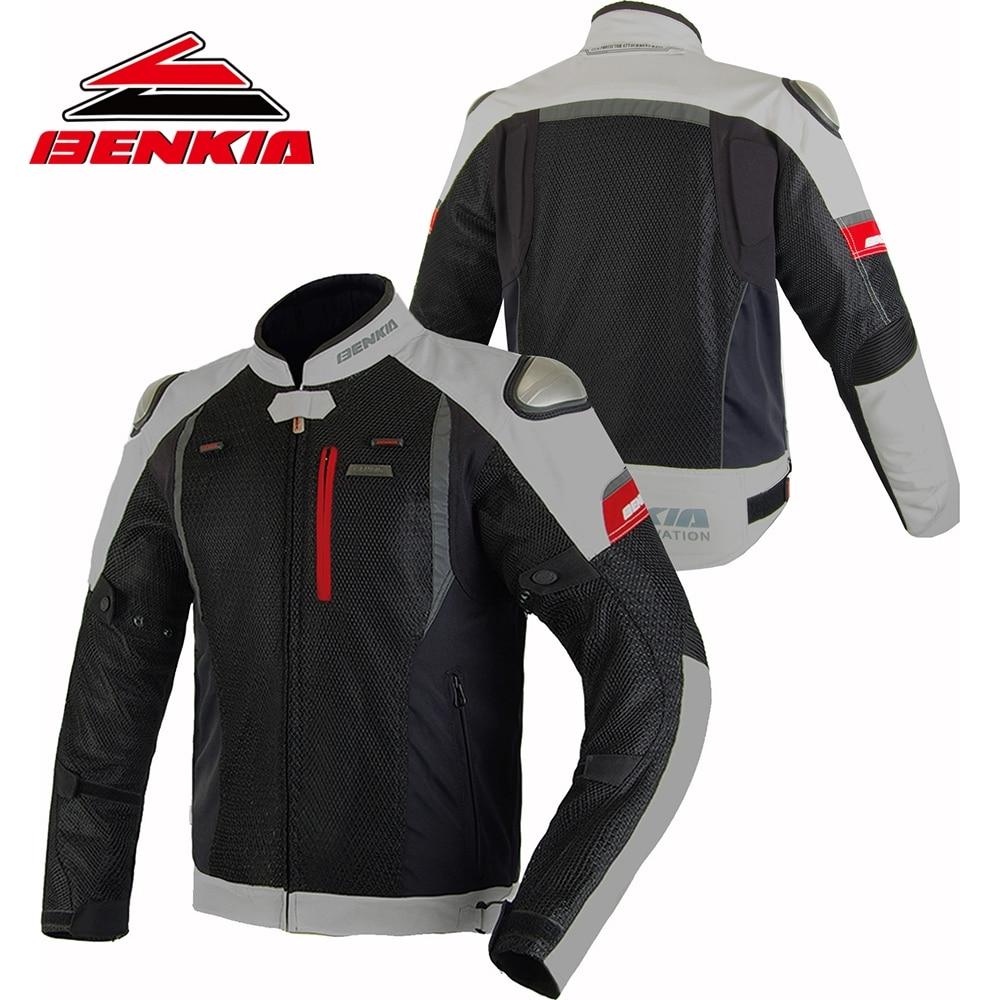 BENKIA verano malla motocicleta Jcaket hombres chaqueta transpirable ropa de carreras primavera y otoño montar ropa Anti Lucha Libre JW69