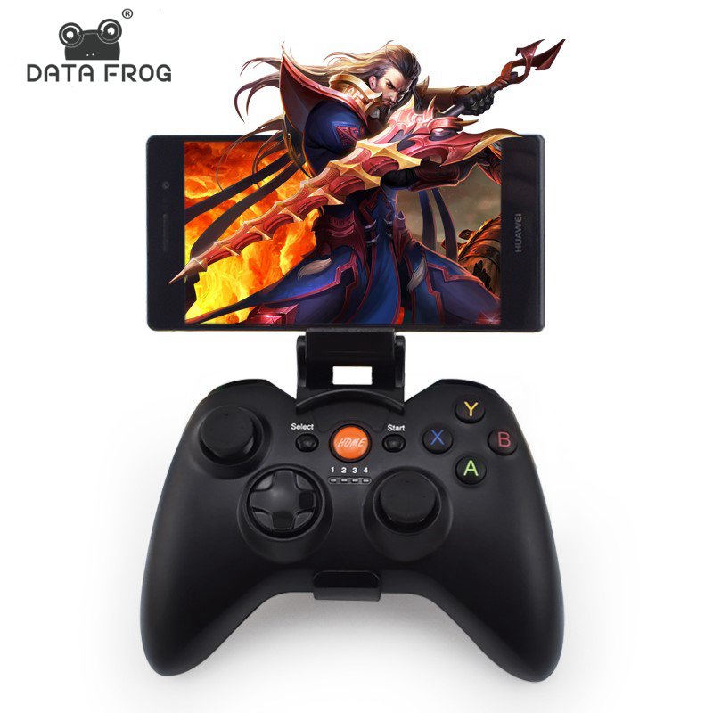 Data Frog Bluetooth Gamepad Joystick For PC Android/IOS Phone Dual Vibration game Controller For Android TV Box/Tablet