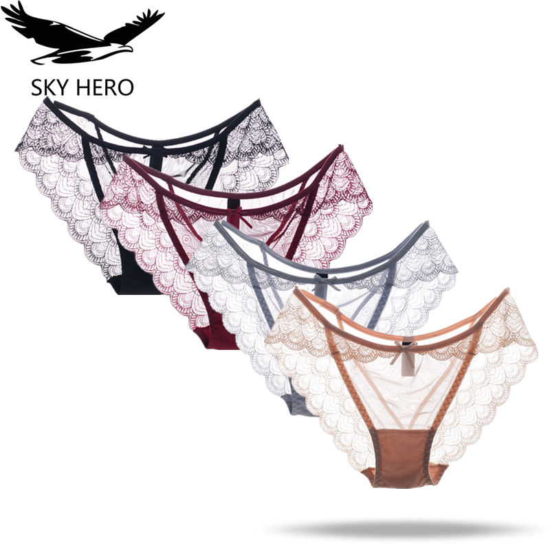 SKY HERO Underwear Women <font><b>Sexy</b></font> Panties Lot Ondergoed Dames Slips Lace Briefs Culotte Woman Cotton <font><b>Sous</b></font> <font><b>Vetement</b></font> <font><b>Femme</b></font> Hot Sale Fh image