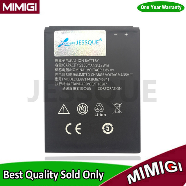 JESSQUE 2150mAh Li3821T43P3h745741 Battery For ZTE Blade L5 Plus Bateria Batterij AKKU