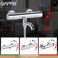 GAPPO Shower Faucets bath mixer with thermostat waterfall thermostatic shower faucet wall mounted tub faucet tapware griferia