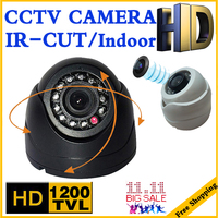 HOT Sale Small 1 3cmos Read 1200TVL Mini Indoor Dome Hd Cctv Security Analog Camera IR