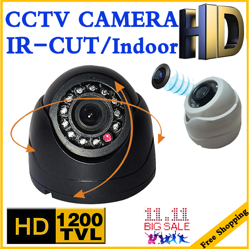 Very Small! 1/3cmos read 1200TVL Mini Indoor Dome Hd Cctv Security Analog Camera IR-cut 12LED Infrared Night Vision 20m vidicon big sale 1 3cmos 1200tvl cctv hd dome camera surveillance indoor 22led infrared ir cut night vision monitoring security vidicon