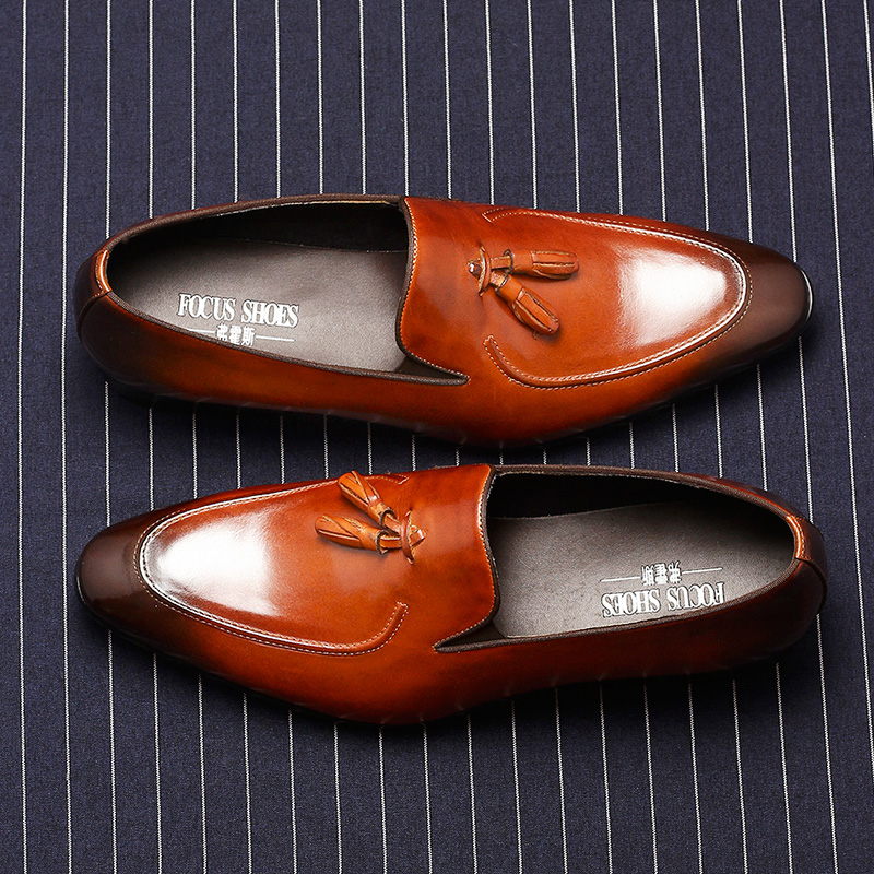 Phenkang mens formal shoes genuine leather oxford shoes for men black 2019 dress shoes wedding shoes laces leather brogues