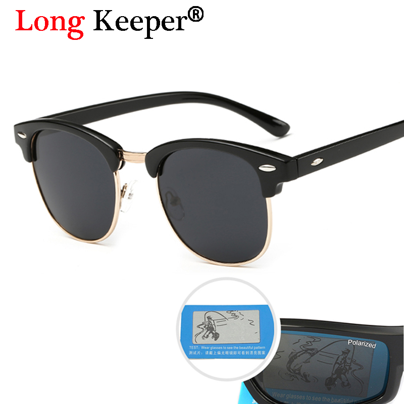 Long Keeper USA Europe Hot Women Cermin mata Lelaki Polarized Sun Glasses Retro Memandu Sun Glasses Gafas de sol feminino 3016 -GD