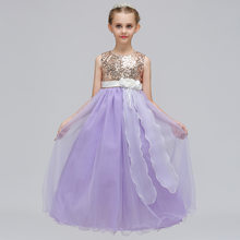 Robe Ceremonie Fille Mariage Enfant Lavender Mint Yellow Special Occasion  Gold Sequin Evening Wear Gown Long Dresses for Juniors 9beaccbbcb70
