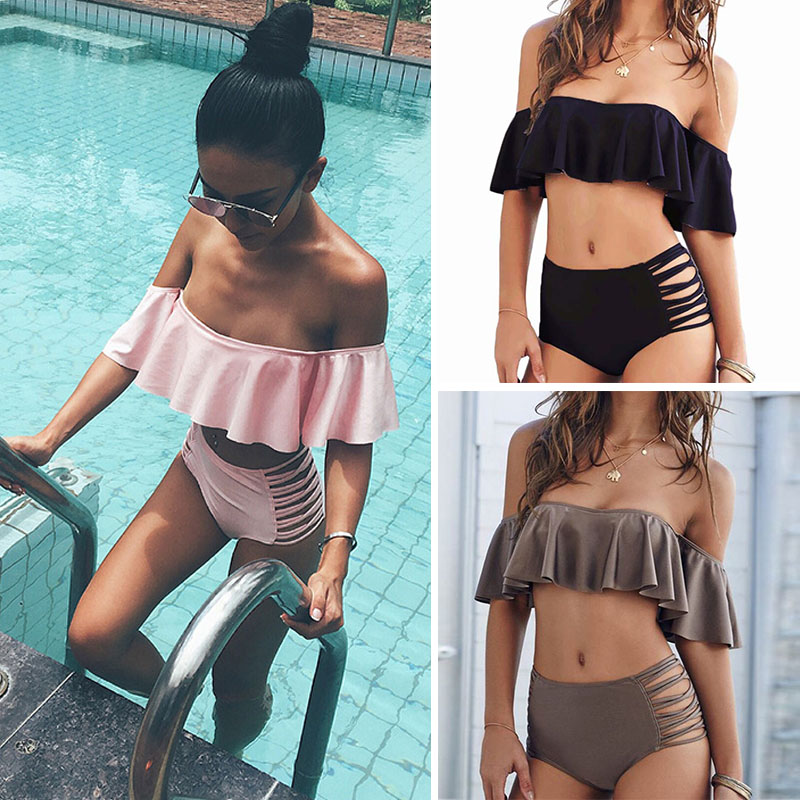 2017 Sexy Bandeau Bikinis Women Swimsuit Brazilian Bikini Set Beach Bathing Suit Push Up Swimwear Hot Biquini Swim Wear popular dot bikini bandeau push up swimwear women strapless swimsuit off shoulder bathing suit beachwear thong