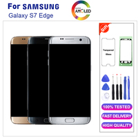 Super AMOLED ЖК дисплей для samsung Galaxy S7 край G935 G935F ЖК дисплей с рамкой ЖК дисплей Экран дисплея планшета Ассамблеи 5,5 ''Замена