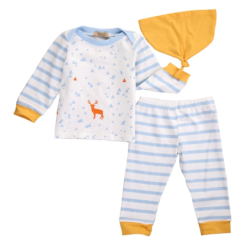 2Pcs/3Pcs Baby Girl Dress Newborn Baby Girls Pajamas Cotton Fox Dress Headband Outfit Cute Sets /Tops +Pants +Hats Clothes Sets головной убор other 2014
