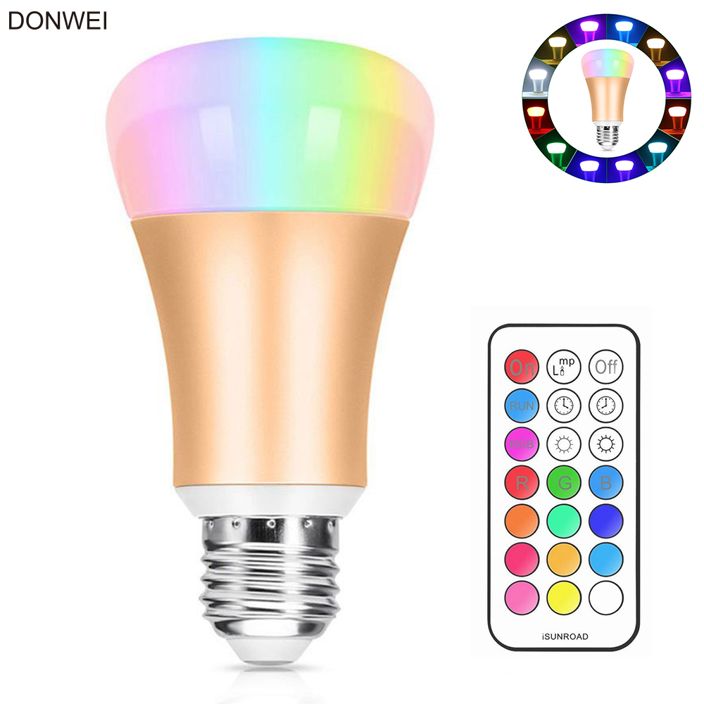 Light Bulbs Led Bulbs & Tubes Self-Conscious Donwei 10w E27 Rgb Led Bulb Stage Lamp 12 Colors With Remote Control Light Bulbs For Bedroom Living Room Ac 85-265v