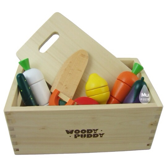 baby toys child pretend play vegetables set wooden toy food box kitchen toys educational best gift