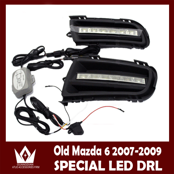 ФОТО Night lord  Mazda 6  Daytime running light  cover for Mazda 6 DRL Special Car Design 6 LED DRL Free shipping